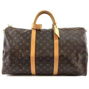 Keepall 50 Bandouliere Duffel Travel Bag